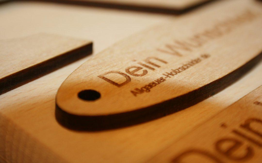 Werbeartikel aus Holz