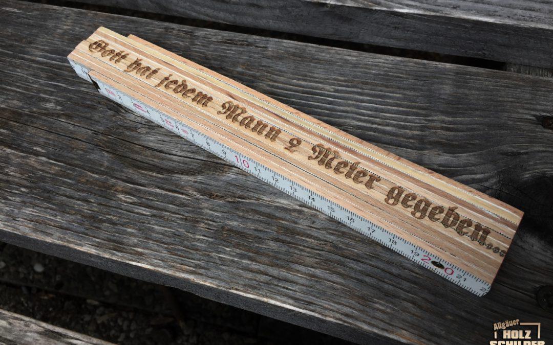 Holz Meterstäbe individuell gelasert