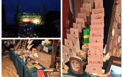 Allgäuer Holzschilder beim Sulzberger Weihnachtsdorf