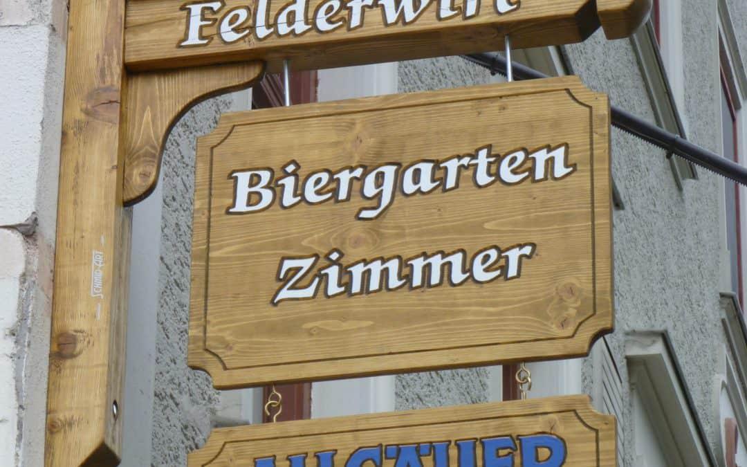 Ausleger Schaukasten Balken Stopper Holzschilder
