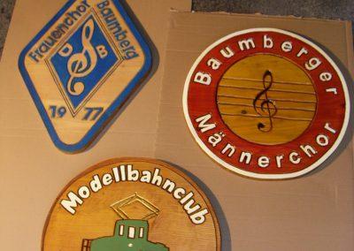 Chor Modellbahn Verein Club Monheim Holzschild