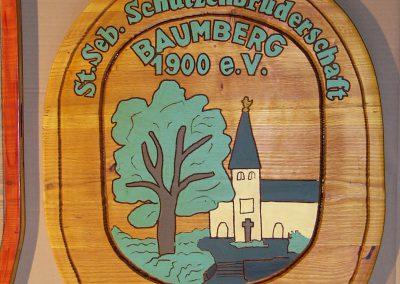 Schützenbruderschaft Schützenverein Logo Wappenschild aus Holz