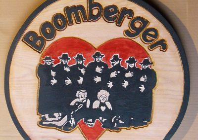 Boomberger Jungs Logo Verein Schild aus Holz