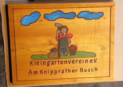 Kleingartenverein Schrebergarten Holzschild Logo