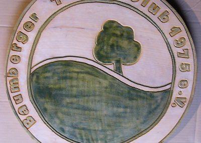 Tennisclub Tennisverein Holzschild Logo Wappen
