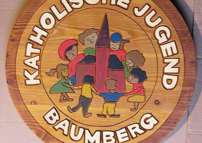 Katholische Jugend Vereinschild Holzschild