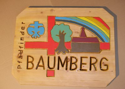 Pfadfinder Logo aus Holz