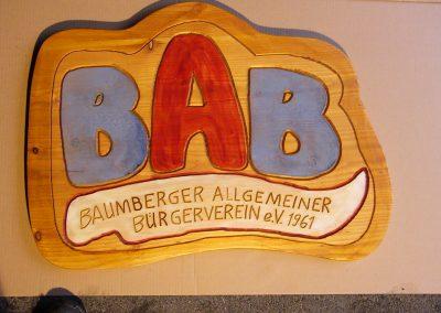BAB Bürgerverein Logo aus Holz