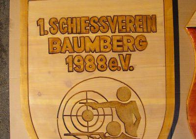 Schiessverein Schützenverein Logo aus Holz