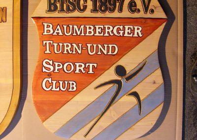 Turnverein Sportverein Club Logo Holzschild