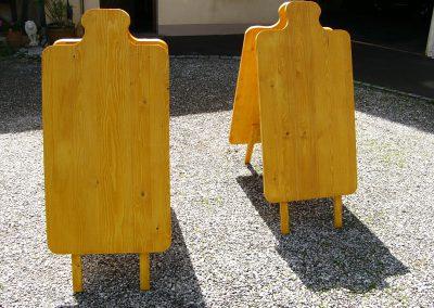 Holzaufsteller Kundenstopper in Brotzeitbrettform