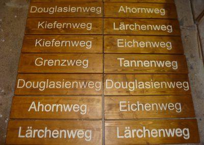 Eichenweg Grenzweg Tannenweg Holzweg Holzschild