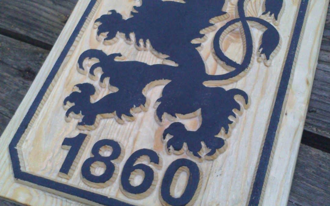 Vereine, Logos, Wappen, Motivtafeln gefräst / geschnitzt