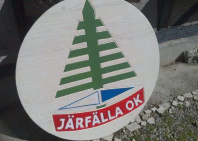 Järfälla Vereinslogo Vereinsschild aus Holz