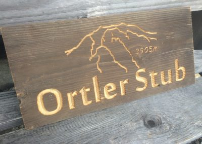 Altholzschild Ortler Stub