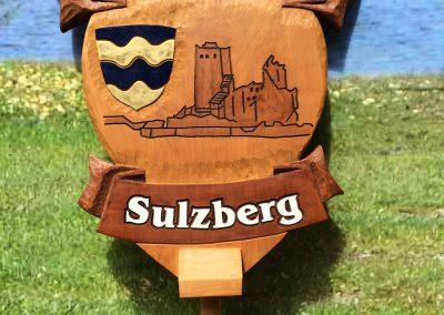 Musikverein Sulzberg Wappenschild aus Holz