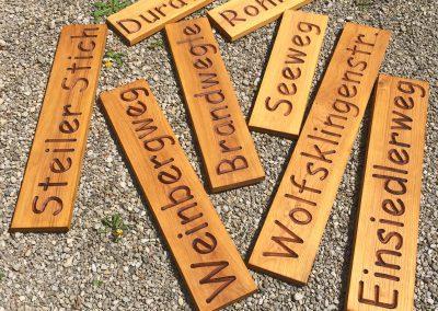 Wanderwegeschilder Wegenamen Strassenschild aus Holz