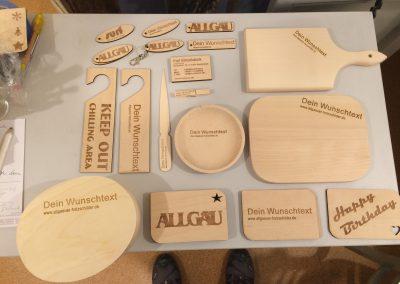 Muster von Holzgravuren