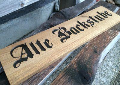 Alte Backstube Massivholz Holzschild