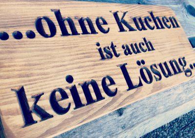Spruchschilder aus Holz