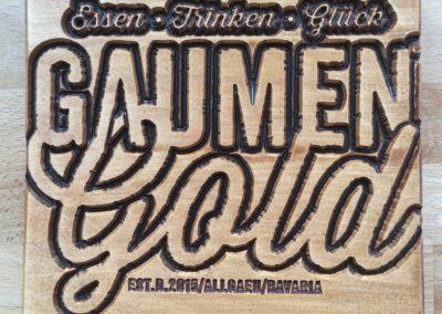 Gaumen Gold Türdrücker aus Holz