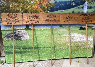 Motivations-Schilder aus Holz