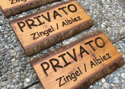 Privato - internationale Holzschilder rustikal