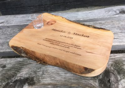 Trauzeugengeschenk zur Hochzeit Holzgravur