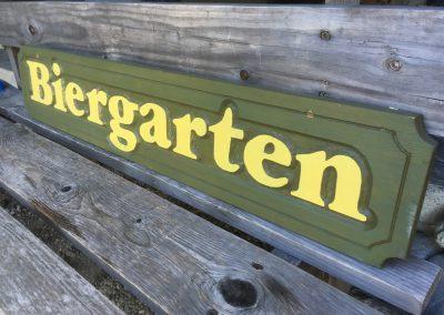 Biergarten Holzschild