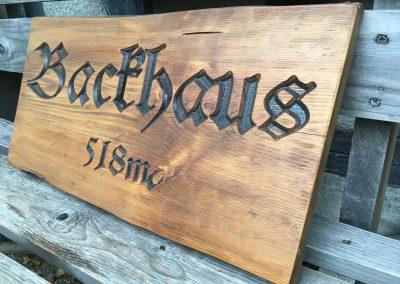 Backhaus, Frakturschrift dunkel
