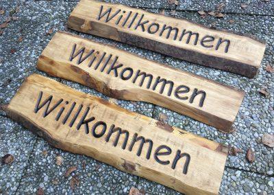 Willkommen Holzschild rustikal