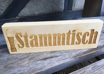 Stammtisch-Schild aus Holz