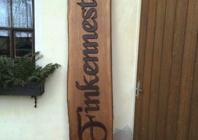 Finkennest, Hausschild aus Holz rustikal