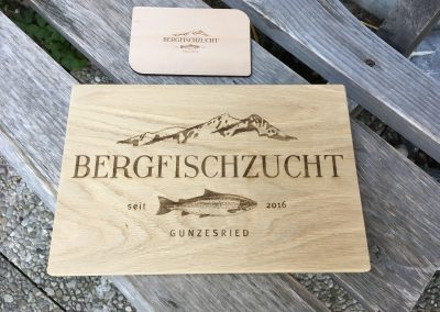 Bergfischzucht Gunzesried Lasergravur