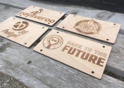 Lasergravierte Schilder für den Innenbereich