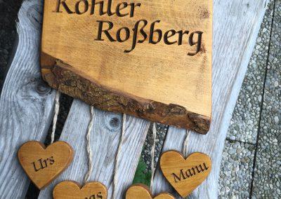 Familienname Holzschild Hausschild