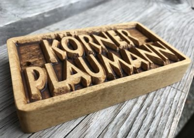 Türschild Namenschild Klingelschild aus Holz