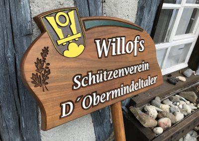 Schützenverein Wappen Holzschild