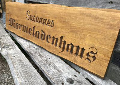 Susannes Marmeladenhaus Holzschild rustikal