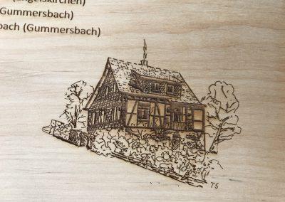 Lasergravur auf Holz