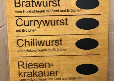 Imbiss Preistafel aus Holz