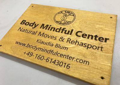 Body Mindful Center Firmenschild