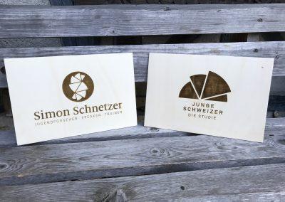 Logo Branding Holzlasergravur