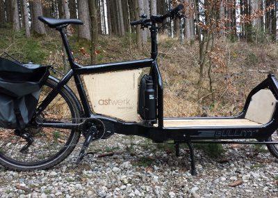 Astwerk Fahrradwerbung Holzschild