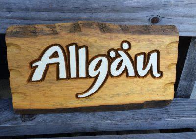 Holzschild Allgäu