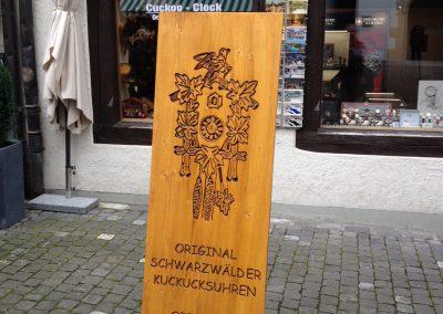 Schwarzwald Kuckucksuhr Holzschild