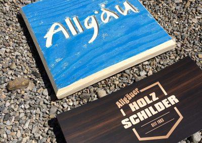 Allgäu Schild aus Holz