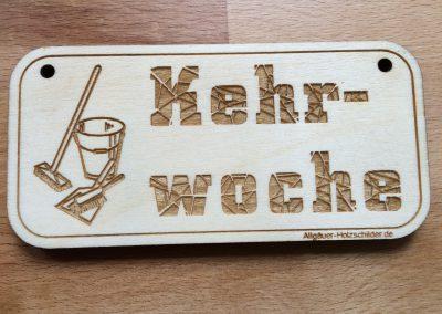 Kehrwoche Holzschild