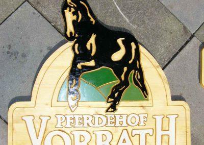 Pferdehof Vorrath Holzschild Firmenschild