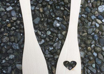 Holz Pfannenwender Ausschnitt